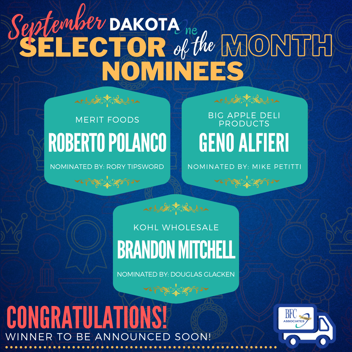 Copy of September Selector of the Month - Nominee Spotlights